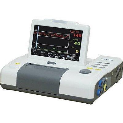 """Monitor Fetal Cardiotocografo Tela 7"""" com Impressora e Monitoramento Gemelar MF9100 Medpej"""