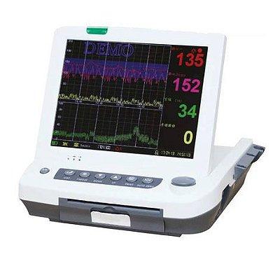 """Monitor Fetal Cardiotocografo Tela 12,1"""" com Impressora Gemelar e Monitorização Materna MF9200 Plus Medpej"""