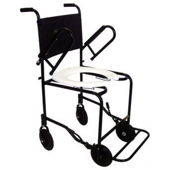 Cadeira de Banho para Idosos ou Enfermos com Braços e Pés Escamoteaveis e Suporte Comadre CDS