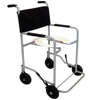 Cadeira de Banho para Obeso com Braços e Pés Fixos 100kg CDS