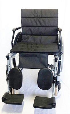 Cadeira de Rodas para Obeso com Braços Escamoteáveis e Elevação de Panturrilha 120kg CDS