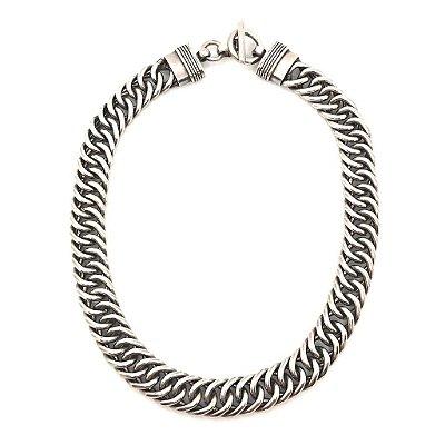 Colar corrente max elos em prata 925