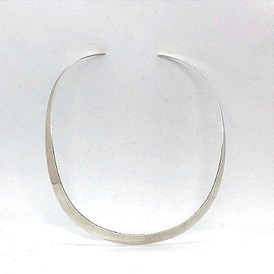 Colar choker não flexível em prata 925 aberto