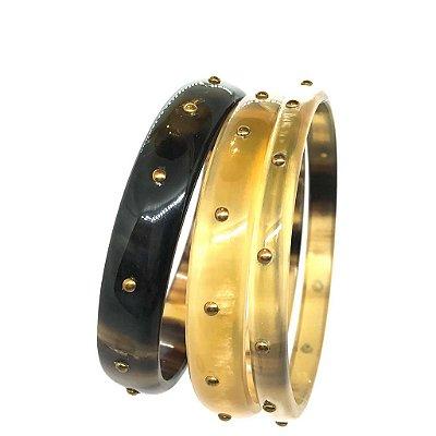 Set de pulseiras em chifre