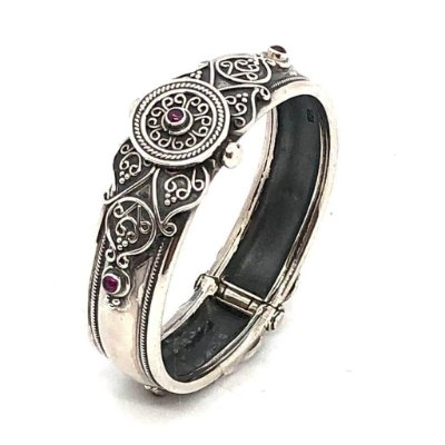 Pulseira bracelete em prata 925 trabalhada