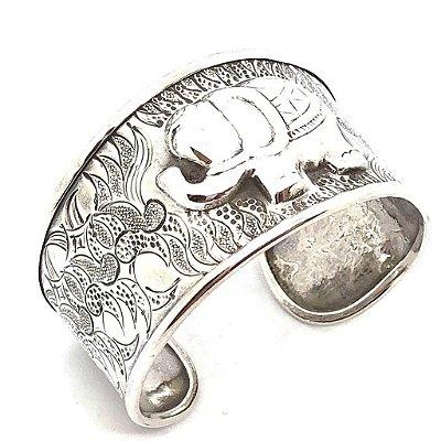 Bracelete elefante em prata 925 aberto