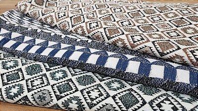 coleção malha jacquard estampas geometricas cortes de 2 metros
