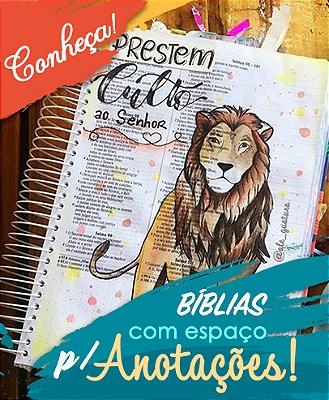 Bíblia espaço para anotações