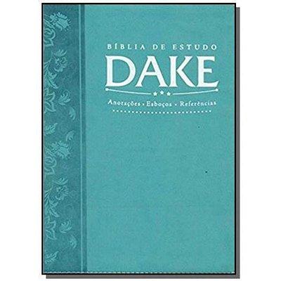 BÍBLIA DE ESTUDO DAKE - TURQUESA