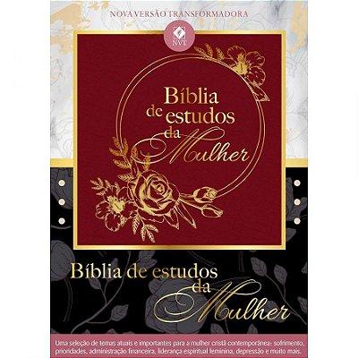 BÍBLIA DE ESTUDOS DA MULHER - VINHO