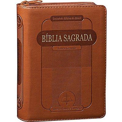 BÍBLIA SAGRADA - LETRA GRANDE MARROM SBB