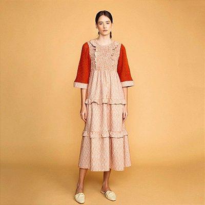 Vestido Camadas Tricot