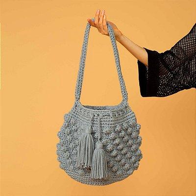 Bolsa Crochet Gray