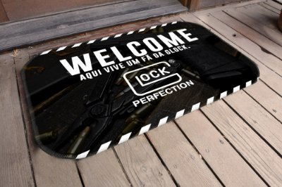 Tapete Welcome Glock (5 Unidades)