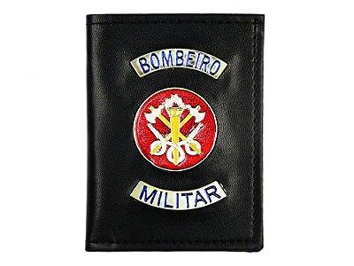 Carteira com Brasão Bombeiro Militar Preta (5 Unidades)