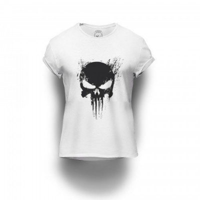 Camiseta Estampada Punisher Scream