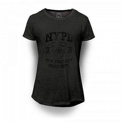 Camiseta Longline Black - NYPD