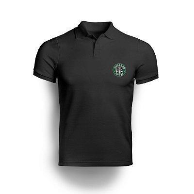 Camisa Gola Polo Guns and Coffe - Preto