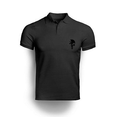 Camisa Gola Polo Black Punisher M4 - Preto
