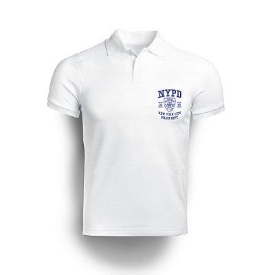 Camisa Gola Polo NYPD -Branco