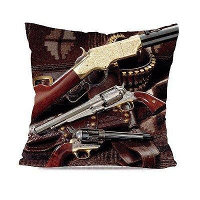 Almofada Militar Estampada Old Guns