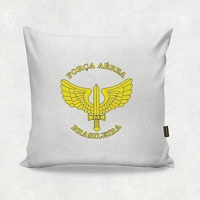 Almofada Militar Força Aérea Brasileira Branca