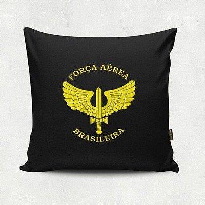 Almofada Militar Força Aérea Brasileira Preta