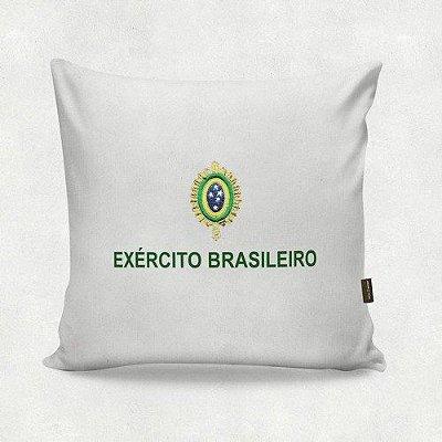 Almofada Militar Estampada Exército Brasileiro Branca