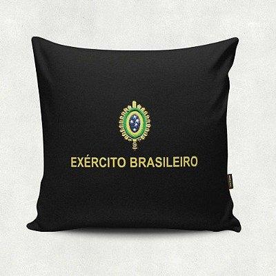 Almofada Militar Estampada Exército Brasileiro Preta