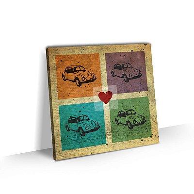 Quadro Carro Fusca Amor Vintage