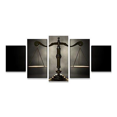 Quadro Escritório Advocacia Direito Advogado Balança Justiça 5 peças 1