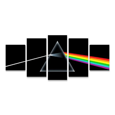 Quadro Pink Floyd Dark Side Original Banda Rock Mosaico
