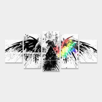 Quadro Pink Floyd Dark Side Eagle Banda Rock Mosaico