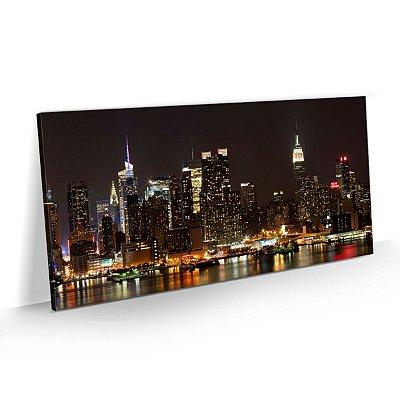 Quadro Cidade Nova York - Vista noturna de Manhattan