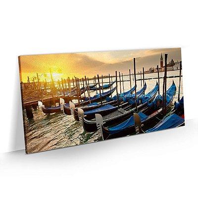 Quadro Cidade Veneza - As gôndolas e o pôr do sol