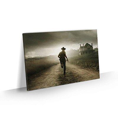 Quadro The Walking Dead - Rick running on the farm