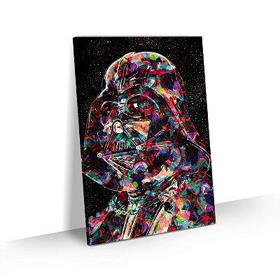 Quadro Star Wars Darth Vader Estilizado Colorido