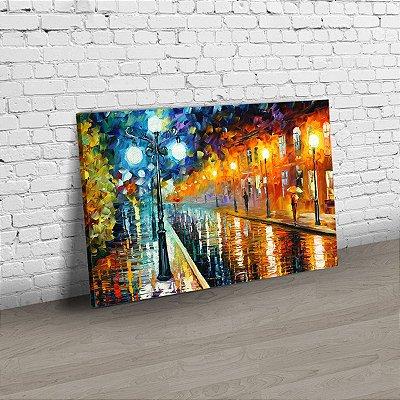 Quadro Abstrato - Leonid Afremov - A rua em luzes