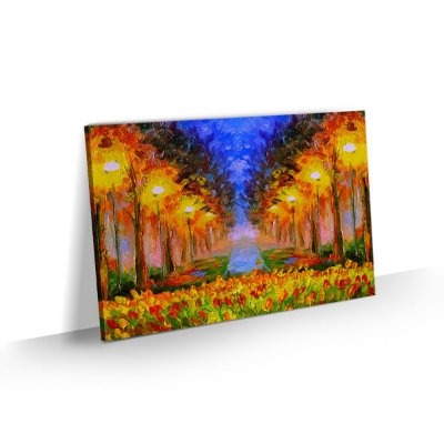 Quadro Paisagem Florida Colorido Tela Canvas