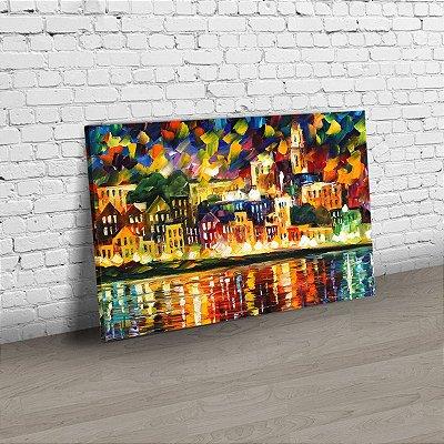 Quadro Abstrato - Leonid Afremov - A cidade em cores