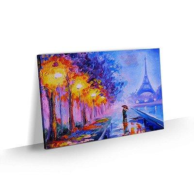 Quadro Paris Torre Eiffel Paisagem Colorida