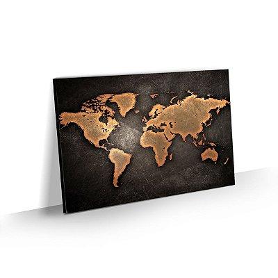 Quadro Mapa Mundi Estilo Vintage - Modelo 01