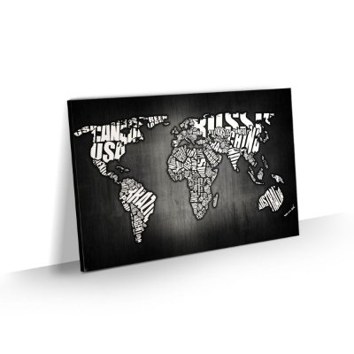 Quadro Mapa Mundi Nomes dos Países - Modelo 05