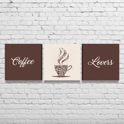 Kit de Quadros Para Cozinha Área Gourmet Café Coffee Lovers