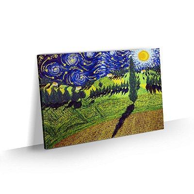 Quadro Van Gogh - Girassóis no campo