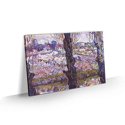 Quadro Van Gogh - Vista em Arles, pomar em flor