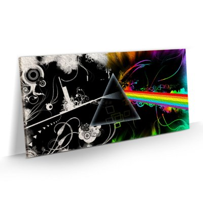 Quadro Banda Rock Pink Floyd - Dark Side of the Moon Vintage Retrô