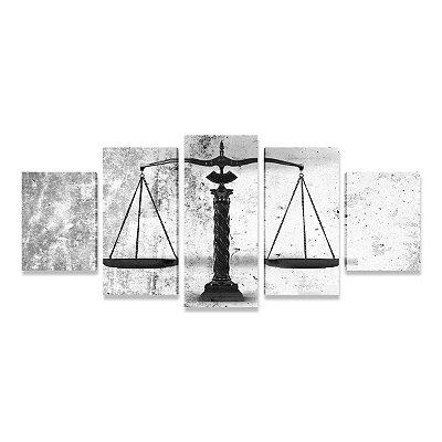 Quadro Escritório Advocacia Direito Advogado Balança Justiça 5 peças 3