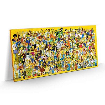 Quadro Os Simpsons - Personagens da Série
