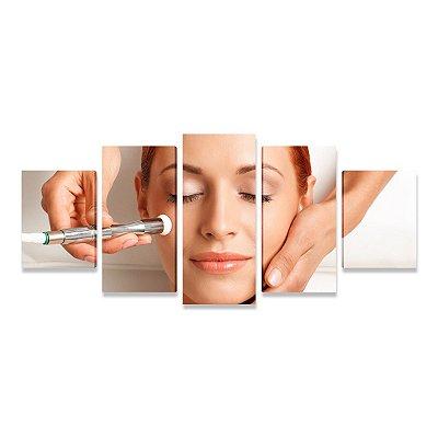 Quadro Consultório Médico Dermatologia Estética 02 - 5 telas